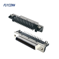 Quality 14P 26P 50P Female Right Angle PCB SCSI Connector For PCB Board for sale