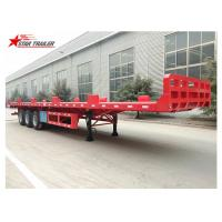 Quality Heavy Equipment Transport Drop Deck Semi Trailer Manually Operated Or Hydraulic Type for sale