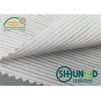 Quality Smooth Canvas Interlining For Tailoring Materials / Men Suits Fusible Interlining Fabric for sale