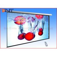 Quality Pull Down Video Projection Projector Screen , 16 9 Projection Screen Sizes 92 Inch for sale