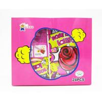 China Rose Shaped Lollipops With Fluorescence Stick And Poping Candy/Multi fruit flavor on sale