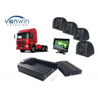China Taxi CCTV Wifi Bus 4 Camera Car DVR 4CH 3G Live Video Tracking with GPS on sale