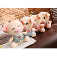 Quality Personalized Pig Plush Toy , Extra Soft Cute Pig Doll For  Girls / Kids Gift for sale