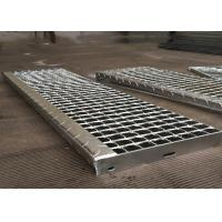 Quality Non Slip Weld Steel Stair Treads Grating , Safety Grating Stair Treads for sale