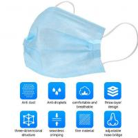 Quality Protective Earloop 3 Ply Face Mask Skin Friendly Independent Packing for sale