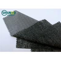 Quality Eco Friendly Woven Interlining Fabric PES Fusible Weft Insert Napping For Overcoat for sale