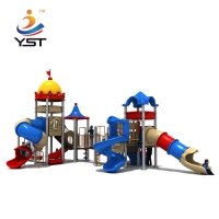 China AISI 304 Fasteners Amusement Park Equipment With Plastic Slide on sale