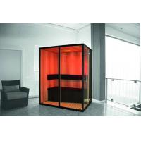 Quality 3 Person German Saunas, Ceramic Infrared Room to Burn Calories for sale