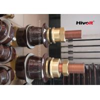 Buy cheap Outdoor Porcelain High Voltage Transformer Bushings Brown Color 1kV 2000A from wholesalers