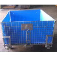 Buy cheap 4 Side Bottom Plastic Board Steel Containers For Semi - Finished Cargo from wholesalers