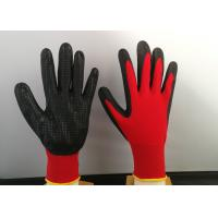 Quality Slip Proof Nitrile Coated Gloves Breathable Featuring Heat Transfer Printing Way for sale