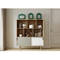 Buy cheap Lacquer Matt Modern Sideboard Cabinet With Solid Wooden Legs 3 Years Warranty from wholesalers