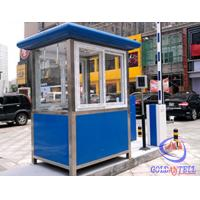Buy cheap Columniform Tall Stainless Steel Sentry Box / Security Booth And Glass-Window For Watching from wholesalers