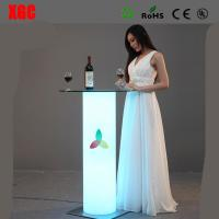 Quality Remote Control 16 Colors Changing LED Bar Table Coffee Table Tea Table For Events Party Club Wedding Hotel Decoration for sale