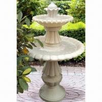 Quality Two Tier Fountain, Made Of Fiberglass, UL And CE Approved, Outdoor Using Traditional Styling for sale