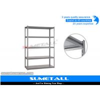 Quality 5 Tier Boltless Rivet Shelving Metal Garage Shelves With Invisible Holes for sale