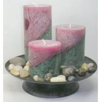 Quality Pillar rustic decorative scented candles, jasmine / lavender for sale