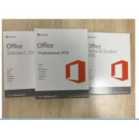 Quality Multi Language Software Key Code / Office 2016 Professional Retail Version for sale