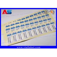 Quality 2 ml Steroid Bottle Labels Stickers For Injections Steroids Custom Silver foil Printing for sale