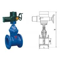 Quality RVEX electric resilient seated gate power station valve grey cast iron 50 - 400mm for sale