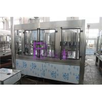 Aseptic Round Bottle Drinking Water Filling Plant , Liquid Filler Equipment