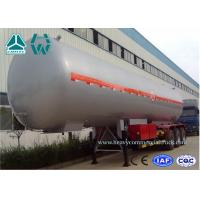 Quality Customized Logo Diesel Fuel Lpg Tank Trailer 200,000 Liters , Round Shape for sale