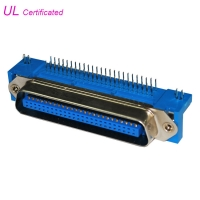 Quality Male PCB Right Angel 50 Pin Centronics Connector , Plug Champ Connectors for sale