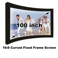 Quality Full HD 100 Inch Curved Fixed Frame Projection Screen 16:9 For Home Cinema Video Projector for sale