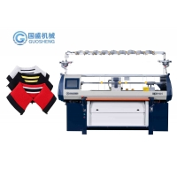 Quality Fully Jacquard Plain Computerized Collar Knitting Machine 14G for sale