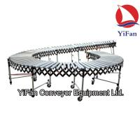 China Gravity Roller Flexible Conveyors applied in loading docks/plant floors/shipping areas on sale
