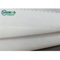 Quality Full Tricot Warp Knitting Fusible Woven Interlining PA Wet Treatment Enzymes Washing for sale