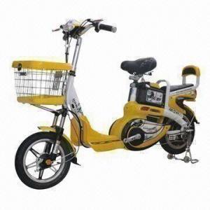 Electric Bike with 48V/250W Motor, 48V/10Ah Lead-acid Battery, 25kph Maximum Speed
