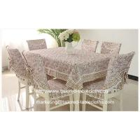 Quality Where to buy custom fabric tablecloths? we offer oblong floral table linens wholesale, for sale