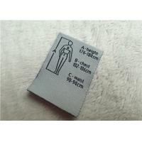 Buy cheap Double Brocade Woven Labels Mid Fold With Size Details Introducing For Garment from wholesalers