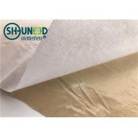 Quality Eco Friendly Fusible Non Woven Interlining Fabric With Yellow Adhesive Release Paper for sale