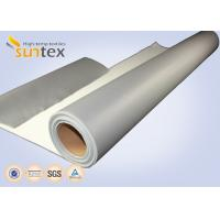Quality SUNTEX One Side Silicone Coated Fiberglass Cloth Steam Pipe Insulation Material for sale