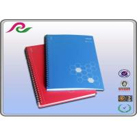 Quality blue / red PP Cover Spiral Bound Notebooks for business office writting for sale
