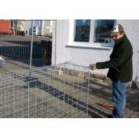 China Pvc Coated Metal Gabion Baskets / Gabion Stone Cages Long Life Span on sale