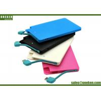 Quality Easy Carry Ultra Slim Power Bank 2500mAh Plastic Material 50g Net Weight for sale