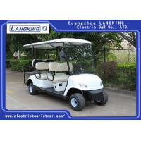 Quality White Color 48V 3KW DC Motor Electric Golf Carts With 6 Seats Easy Operated for sale