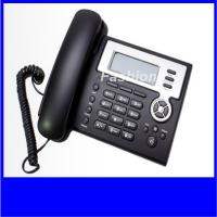 Quality wholesale price 2 sip lines internet ip phone with HD lcd display power adapter for sale
