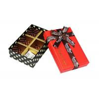 Quality Rectangle Chocolate Recycled Cardboard Gift Boxes of Trays Insert for sale