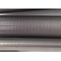 Quality Filtration Cylinder Stainless Steel Tube / 40 Micron Johnson Screen Inside Rods Lengthways for sale