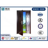 Customized Size Gray Fireproof Entry Doors Strong Temperature Resistant