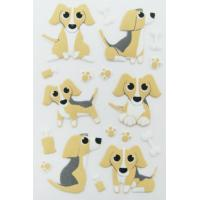Quality Puppy Dog Puffy Animal Stickers For Home Wall Decor Custom Printed Removable for sale