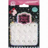Quality Half Nail Sticker with Diamonds, Various Designs are Available for sale
