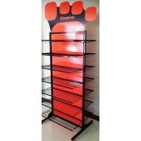 Quality Professional Double Sided Metal Floor Display Stands for Clothes / Shoes for sale