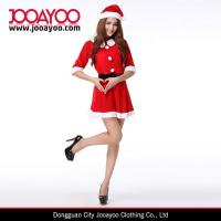 Quality Red Velvet Christmas Clothing Women Half sleeves Mini Christmas Dress for sale