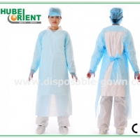 Quality CPE Disposable Protective Clothing With Thumb Cuffs for sale
