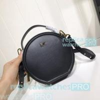 Quality Newest Copy Michael Kors Delaney Round Style Black Genuine Leather Bag for sale